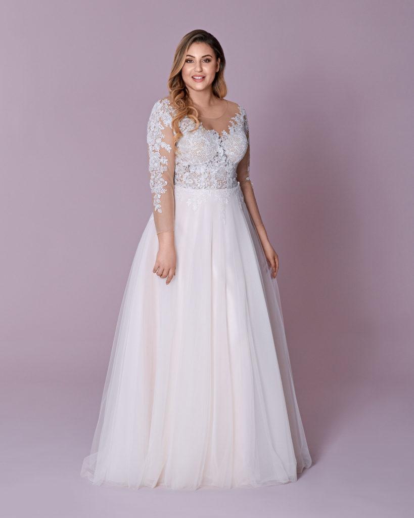 Suknia ślubna plus size długi rekaw Elizabeth Passion model 101T