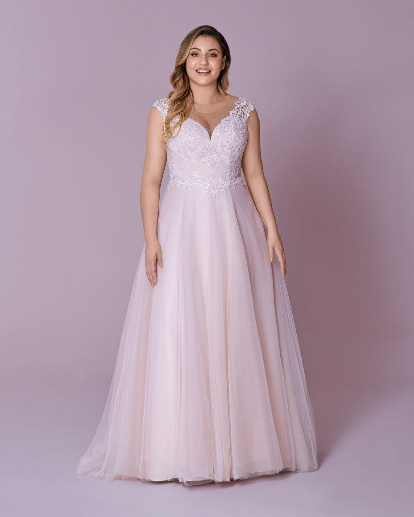 Suknia ślubna spadające ramiączka Elizabeth Passion model 103T