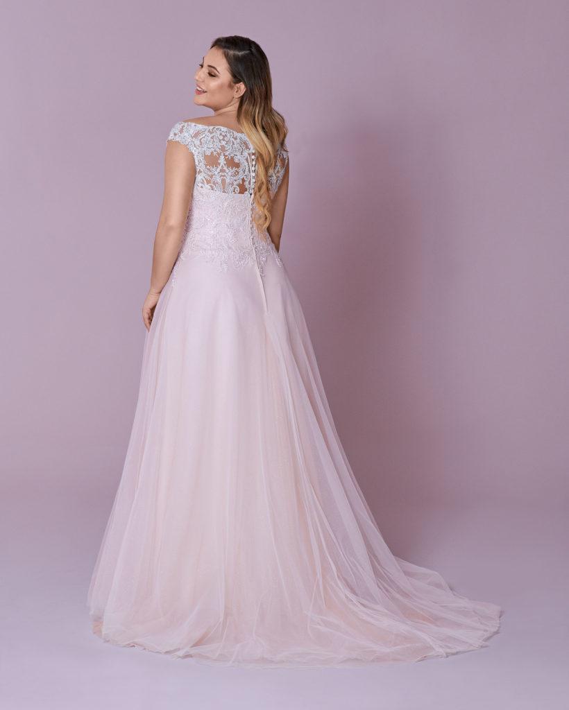 Suknia ślubna plus size głęboki dekolt Elizabeth Passion model 132T BACK