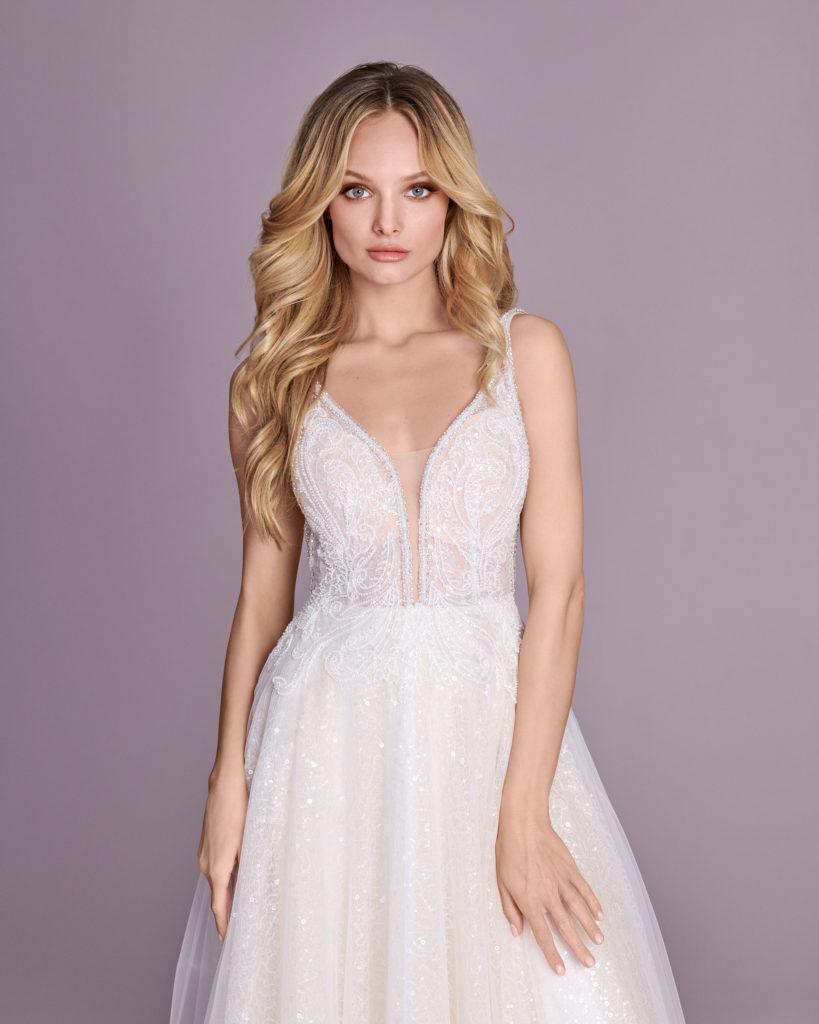 Suknia ślubna błyszcząca Elizabeth Passion model 4414T V2