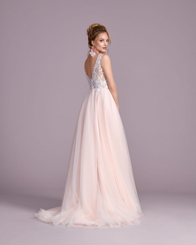 Suknia ślubna różowa Elizabeth Passion model 4430T BACK