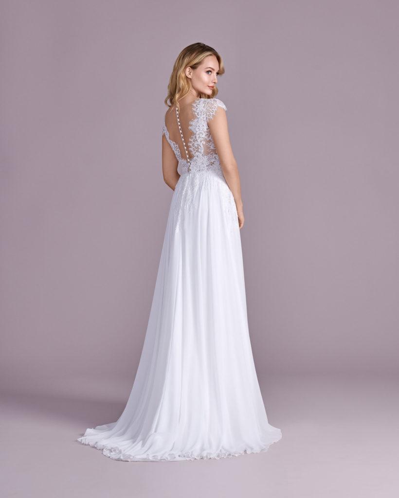 Suknia ślubna muślinowa Elizabeth Passion model 4492T BACK