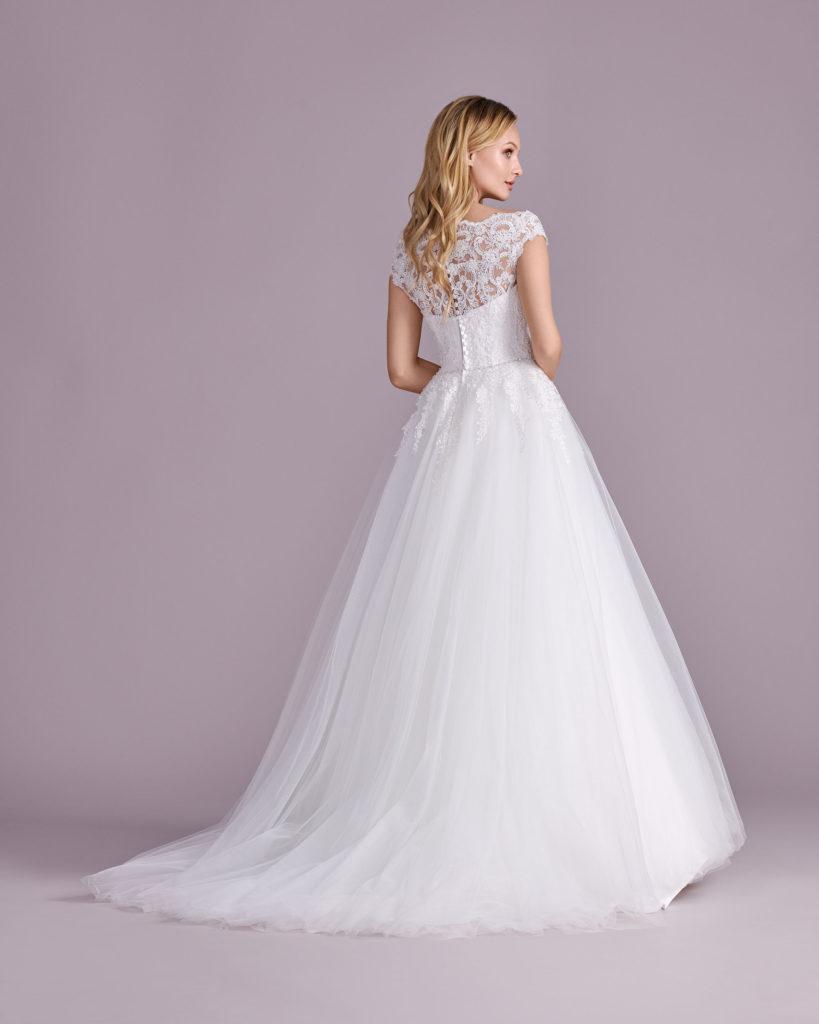 Suknia ślubna księżniczka Elizabeth Passion model 4501T BACK