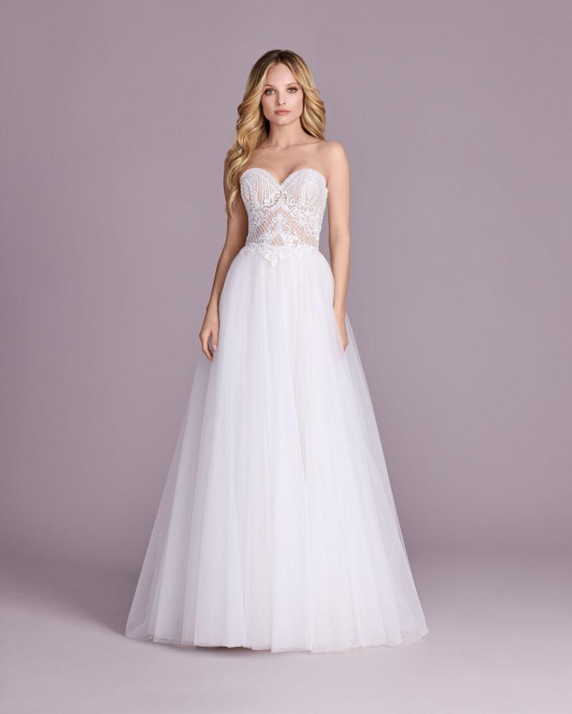 Suknia ślubna cielisty gorset Elizabeth Passion model 4537T