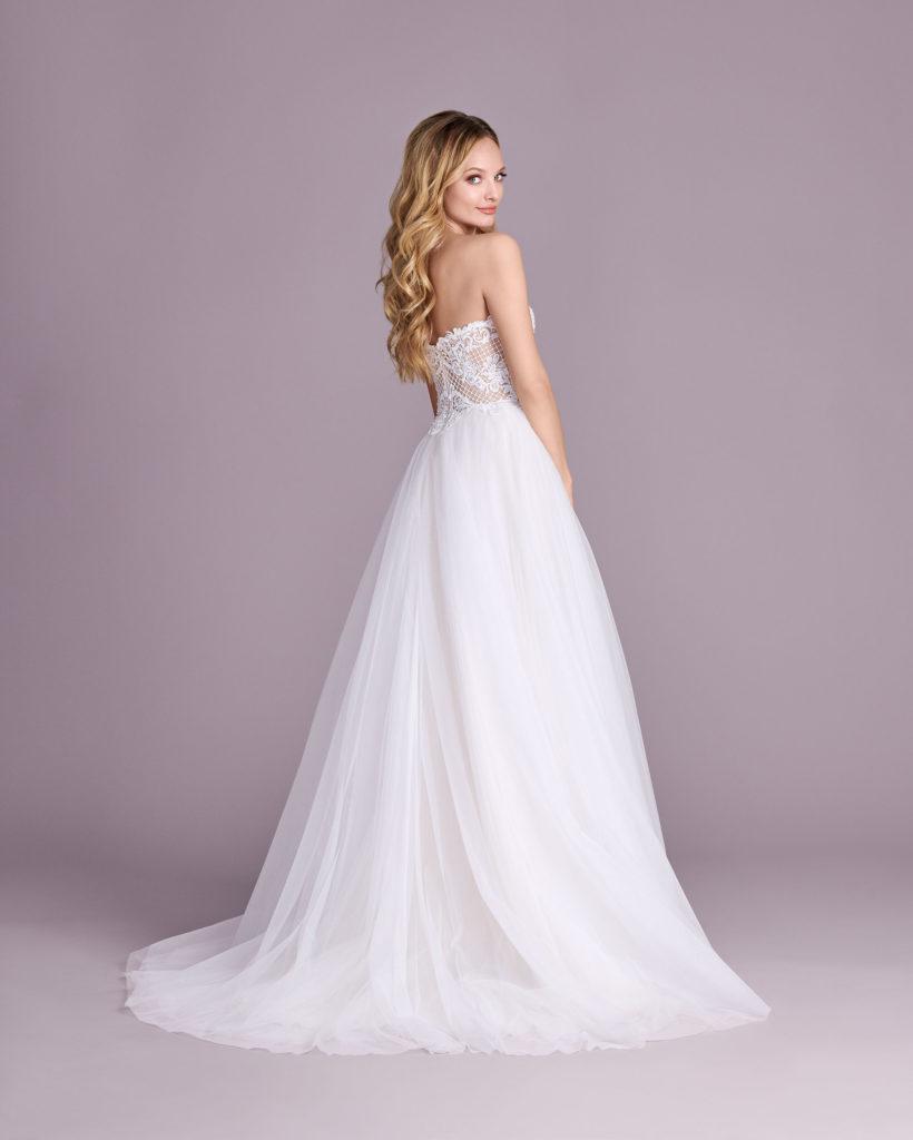 Suknia ślubna odkryte ramiona Elizabeth Passion model 4537T BACK