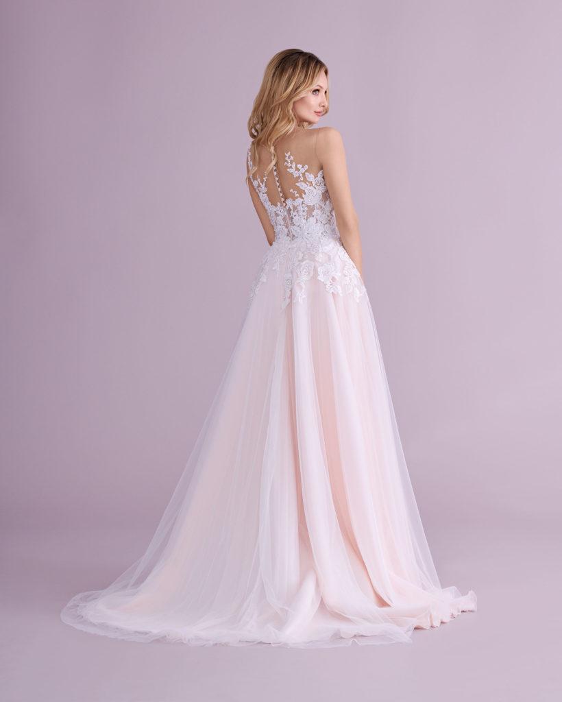 Suknia ślubna delikatna spódnica Elizabeth Passion model 4565T BACK