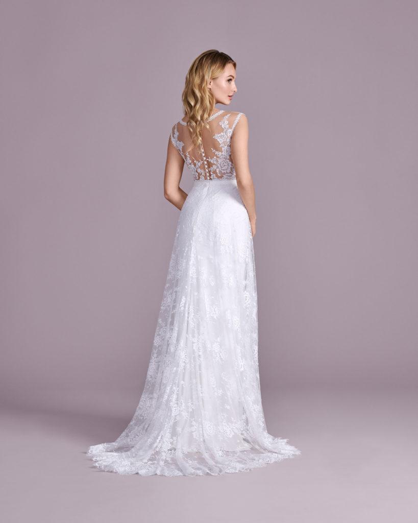 Suknia ślubna rustykalna Elizabeth Passion model 4581T BACK