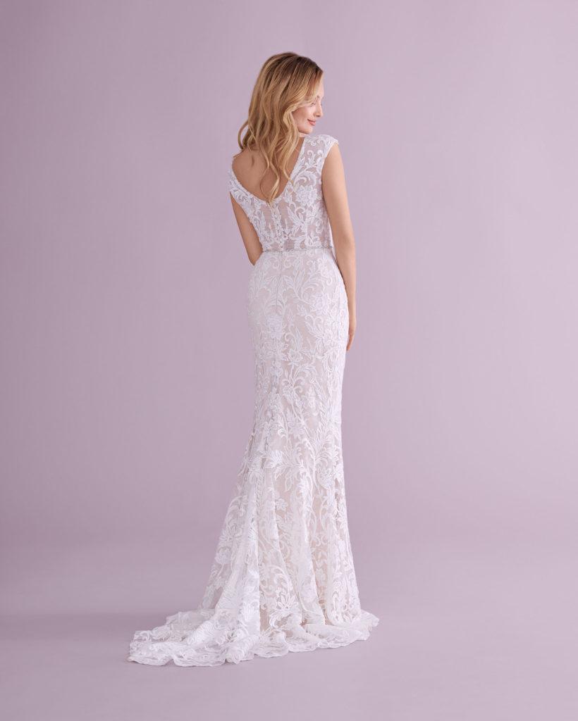 Suknia ślubna syrenka koronkowa Elizabeth Passion model 4587T BACK