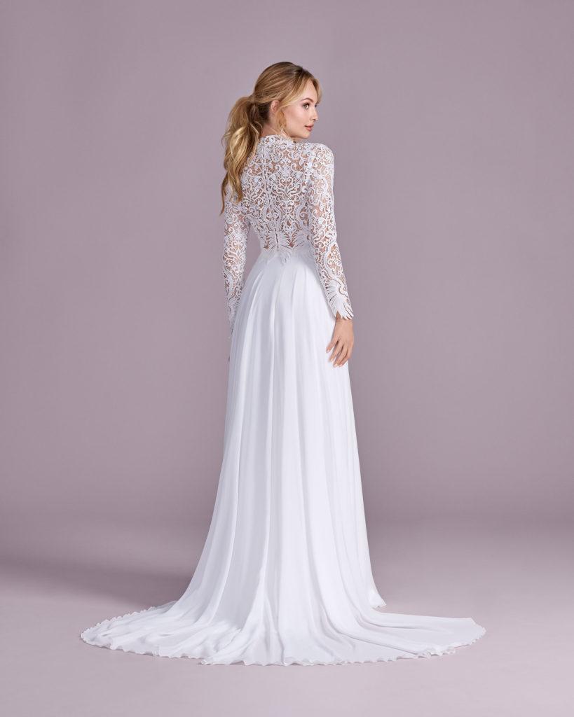 Suknia ślubna długi rękaw Elizabeth Passion model 4598T BACK