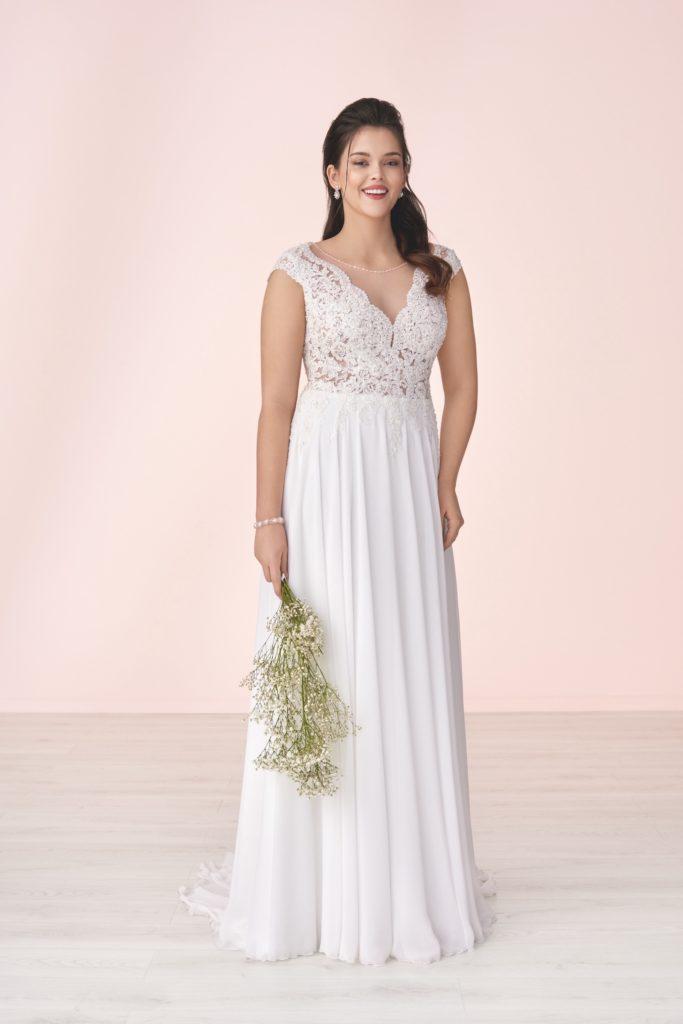 Suknia ślubna szerokie ramiączka Elizabeth Passion model M-04T